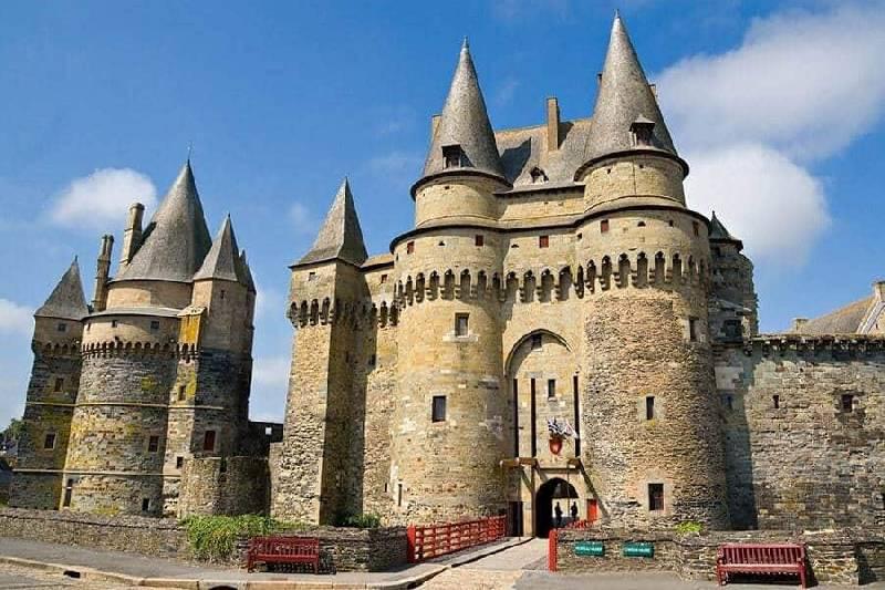 Château médiéval à Vitré, Bretagne, France